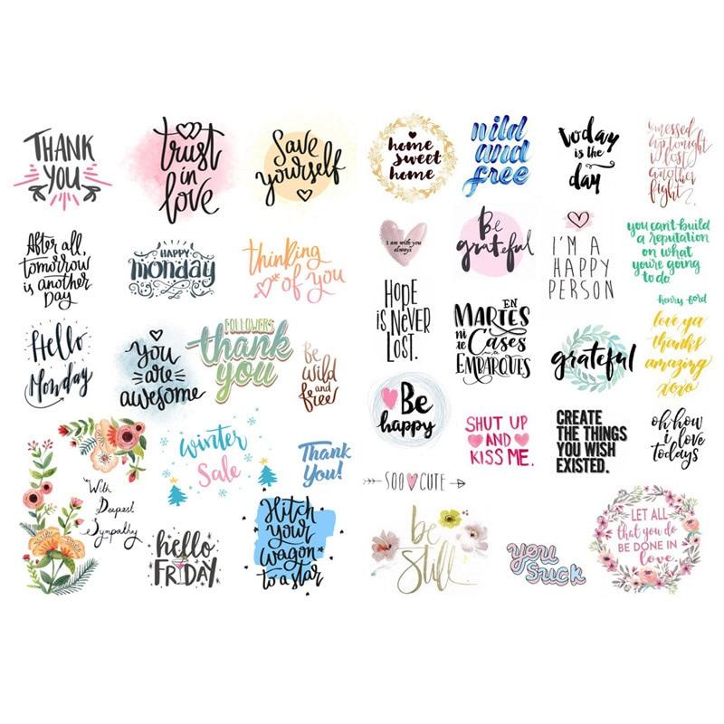 1 Pcs Mode Bunte Worte Vorgeschnittenen Dekoration Scrapbooking Notebook Schreibwaren Aufkleber Kunst Papier Planer Tagebuch Aufkleber Vv Exquisite Handwerkskunst;