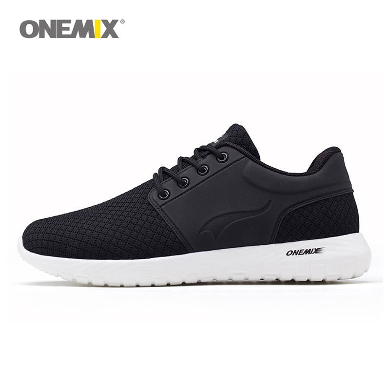 Onemix running shoes for men breathable mesh women sports sneaker lightweight lace-up sneaker for outdoor walking trekking shoes 2017brand sport mesh men running shoes athletic sneakers air breath increased within zapatillas deportivas trainers couple shoes