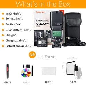 Image 2 - Godox V860II C V860II N V860II S V860II F V860II O TTL HSS Li ion Battery Speedlite Flash for Canon Nikon Sony Fuji Olympus