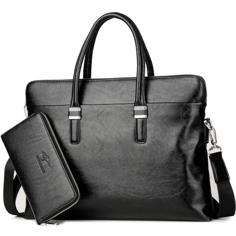 Luxury Brand Business Men Briefcase Leather Laptop Handbag Casual Man Bag For Lawyer Shoulder Bag Male Office Tote Messenger Bag