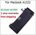 "A1322 63.5wh A1322 Аккумулятор для Ноутбука Macbook, для Macbook Pro 13 ""A1278 Середина 2009 2010 2011 MC700 MC374 MB990"