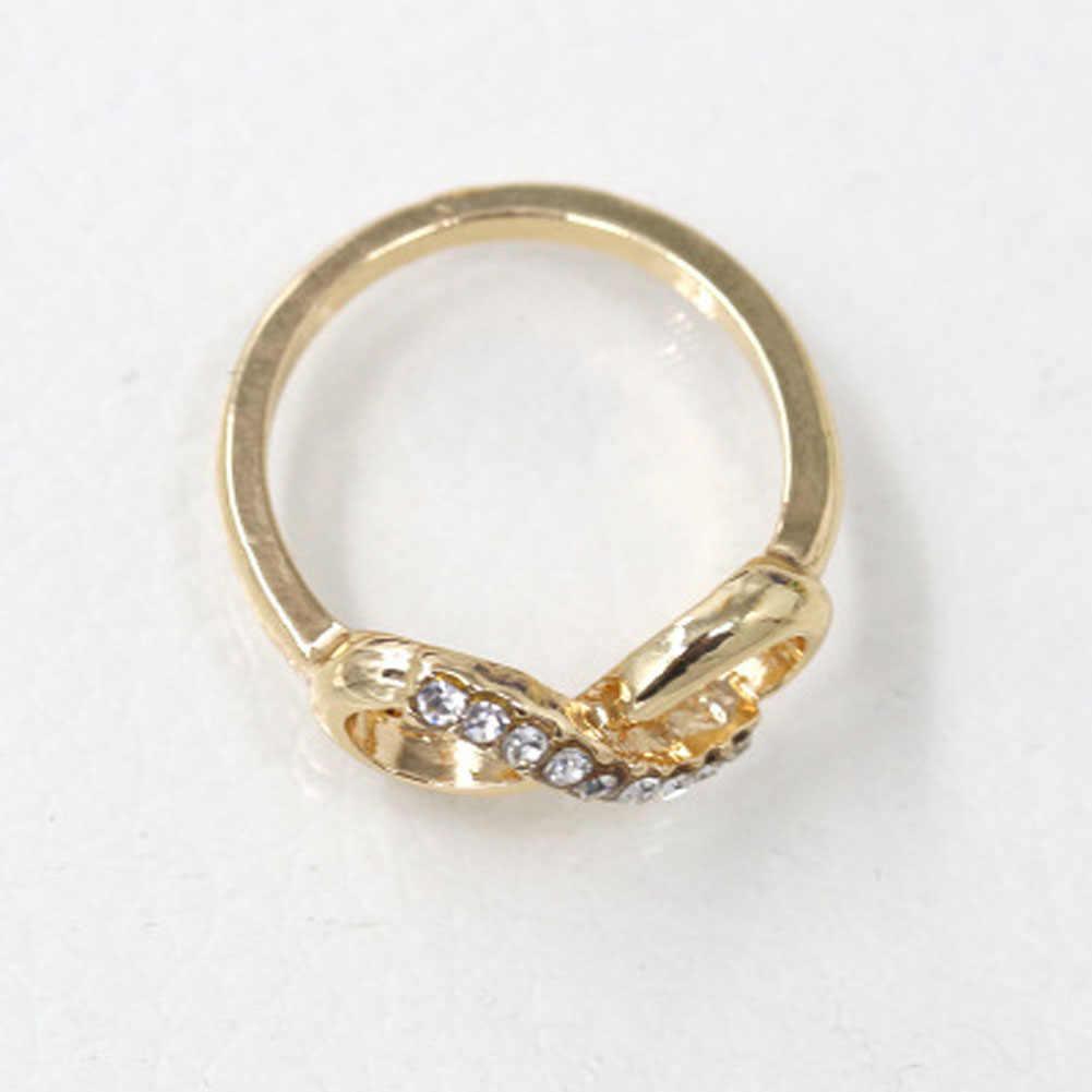 אופנה קוריאנית יוצקים 8 מילה סגסוגת עם טבעת תכשיטי טבעת פשוטה כל משחק נשי טמפרמנט יוקרה