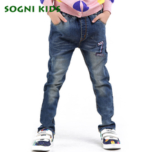 SOGNI KIDS Jeans pants for Boys Jeans children 2-6Yrs full denim  pants for kid skinny spring autumn casual trousers