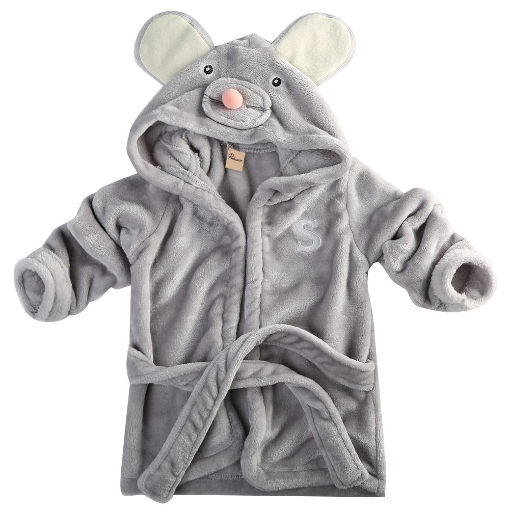 Animal Boy Girl Baby Bathrobe Baby Hooded Bath Towel Infant Bathing Honey Baby