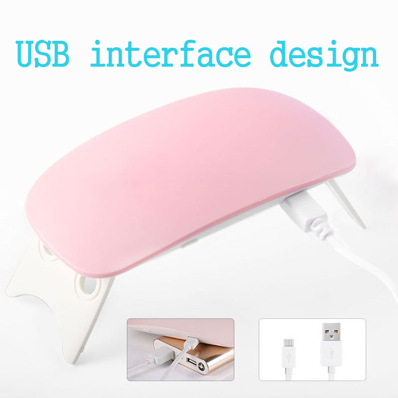 Portable Mini 6W LED Lamp Nail Dryer USB Charge 45s 60s Timer LED Light Quick Dry Nails Gel Manicure For Nail Art in Nail Dryers from Beauty Health