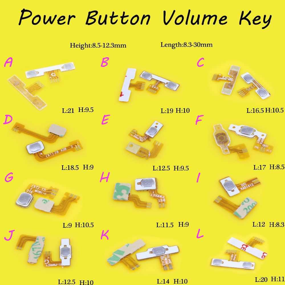 Внутренние кабель смартфона выключатель Универсальный кнопка питания, громкости клавиши общий Кнопка громкости для клавиатуры Мощность переключателя гибкий плоский ленточный кабель