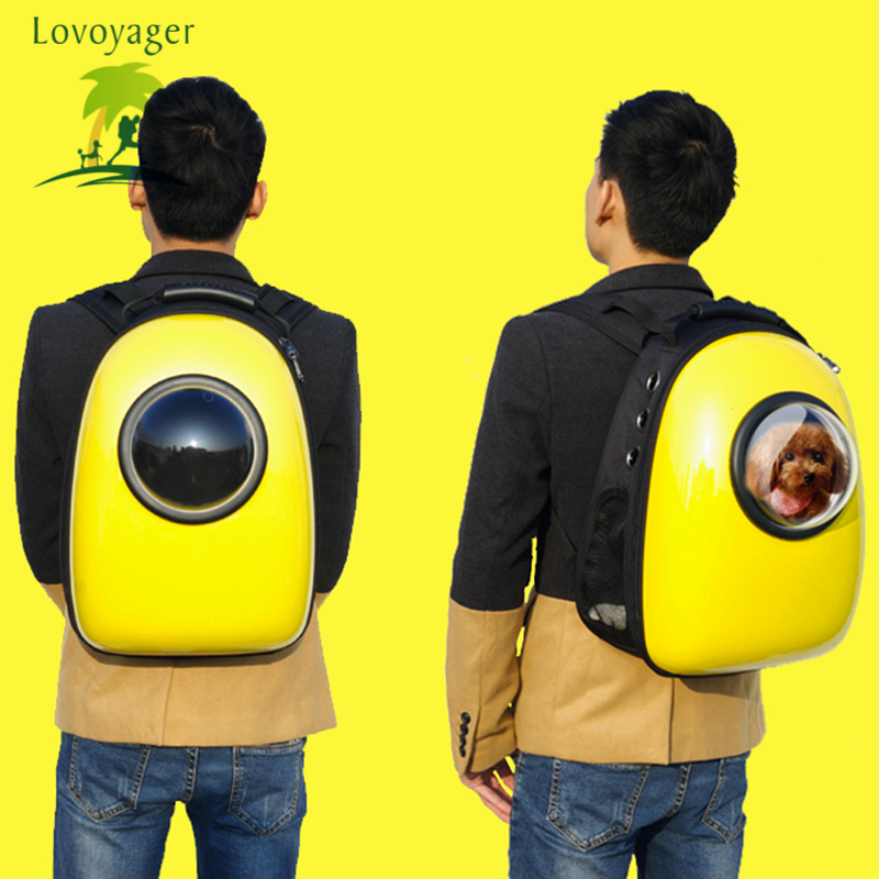 Outdoor colorful Travel Air Space bubble airline approved Pet Carrier Bag Breathable Portable Dog Cat Backpack