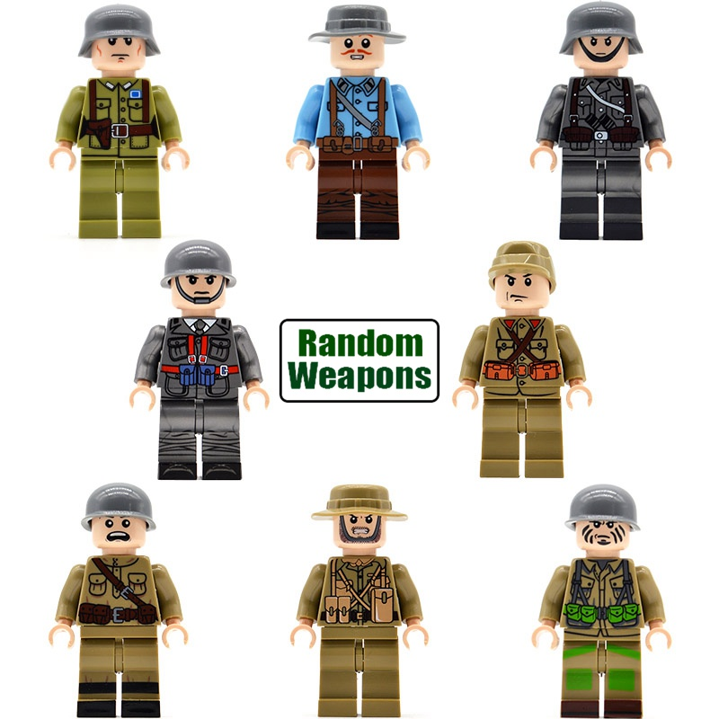 5 Sets WW2 Military Soldiers German US UK Soviet Union Italy France Japan China Army Building Blocks Bricks Kids Toys LS1608 building soviet citizens with american tools