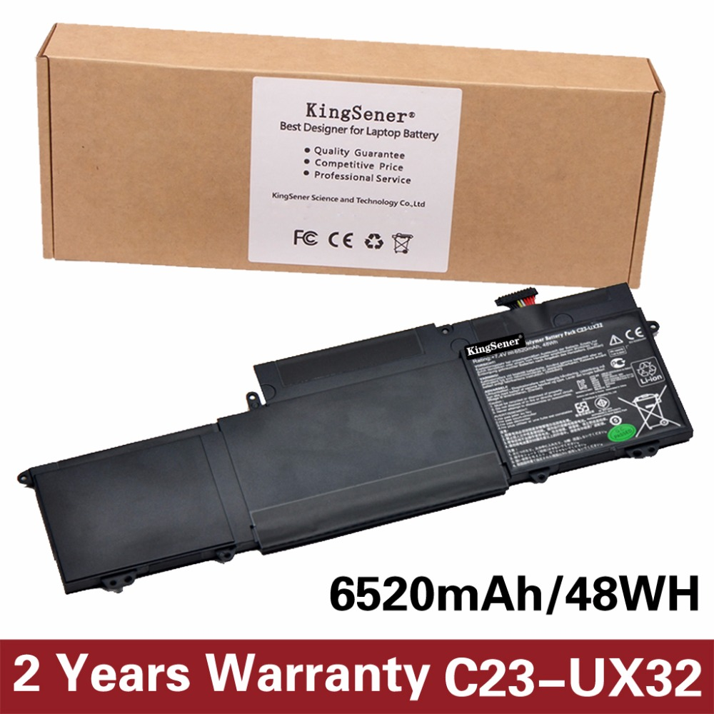 Korea Cell KingSener New C23-UX32 Laptop Battery for ASUS VivoBook U38N U38N-C4004H ZenBook UX32 UX32A C23-UX32 7.4V 6520mAh все цены