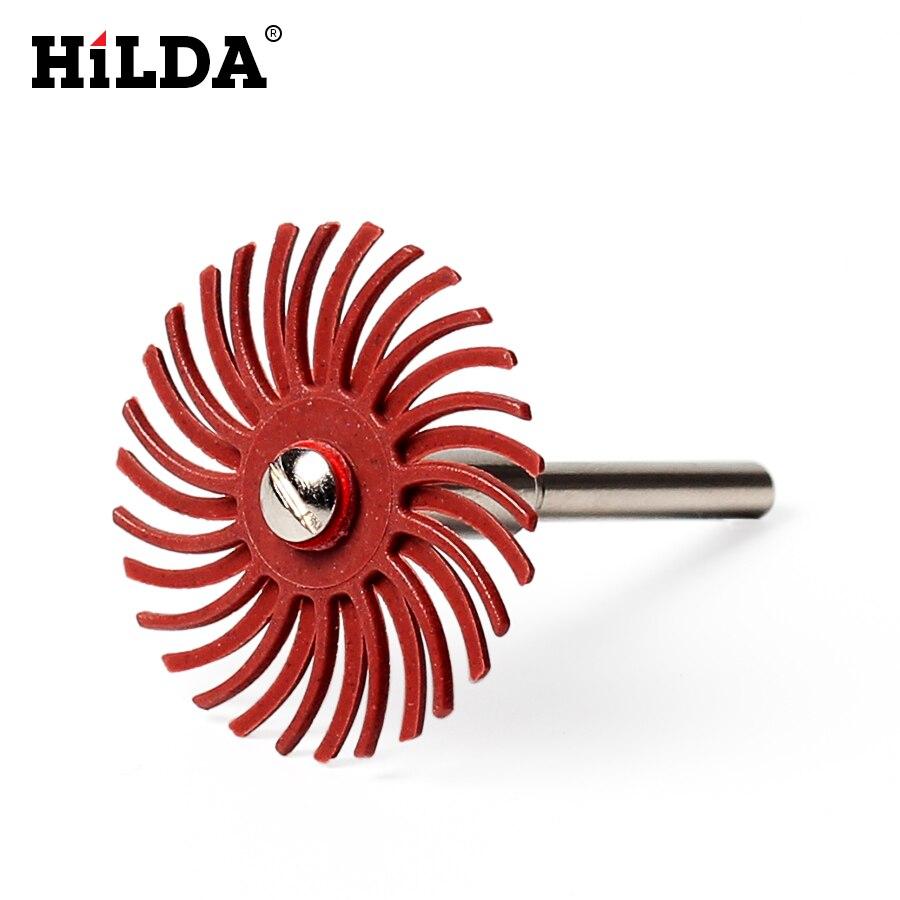 HILDA 6 db-os részletességű csiszolókefe vegyes szemcsés durva - Csiszolószerszámok - Fénykép 4