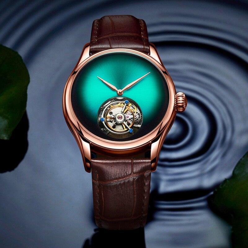 Originele Heren Merk Luxe Automatische Mechanische Horloge Tourbillon Holle Mannen Business Waterdichte Sport Horloges Relogio Masculino-in Mechanische Horloges van Horloges op  Groep 2