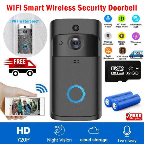 Câmera de campainha inteligente sem fio wi fi remoto vídeo campainha da porta segurança em casa telefone