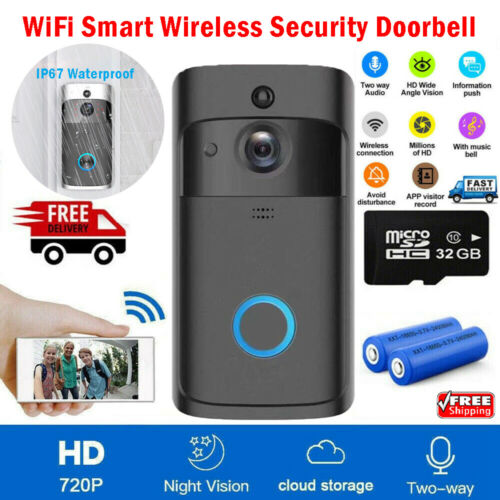 Wireless Smart Doorbell Camera WiFi Remote Video Home Security Door Bell Phone