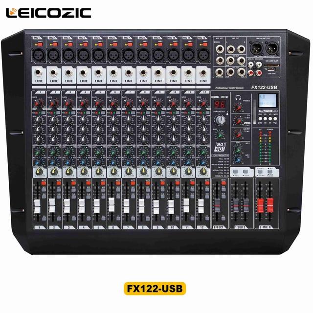 audio equipment rack. Leicozic Audio Mixer FX122-USB Rack Mount Built In DSP/MP3 Player USB/ Equipment