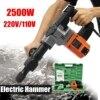 110V 220V 2500W Electric Demolition Jack Hammer Rotary Jackhammer Electric Concrete Drill 2500BPM 4000r Min