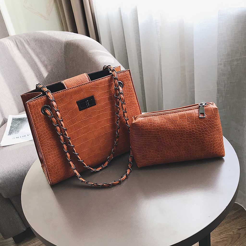 Molave handbag Fashion Women Crocodile Pattern Mother Shoulder Bag Chain Handbag Messenger Alligator String bag women 2019jan9 handbag