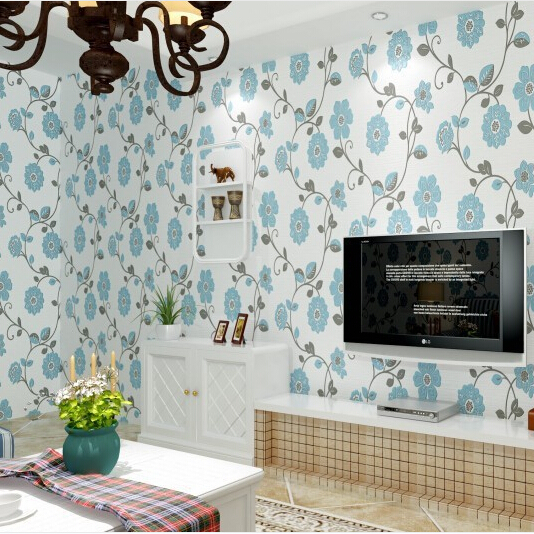 Bedroom Living Room Non Woven Wallpaper Metallic Floral Damask Design Modern Vintage Wall Paper