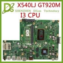 Kefu X540LJ для ASUS X540L F540L X540LJ X540L Материнская плата ноутбука I3-4005U GT920M REV2.1 испытания перед отправкой работы 100%