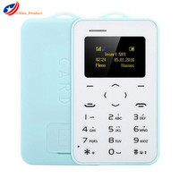 Gifts 10pcs Lot AIEK AEKU C6 Ultra Thin Mini Cell Phone Student Version Credit Card Mobile