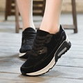 Air shoes for women shoes fashion 2017 new arrival microfiber spring/autumn wedge shoes black and khaki chaussure femme