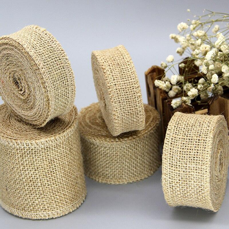 Diy Burlap Wedding Ideas: 2M Natural Jute Hessian Burlap Ribbon Rustic DIY Wedding