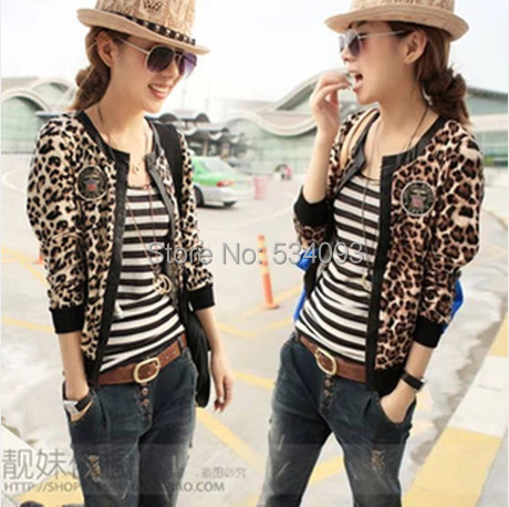 2014 Promotion Top Fasion Full Autumn leopard print Jacket ...