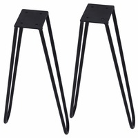 FREE SHIPPING 36cm Coffee Table Hairpins 1 2 Solid Metal Bar Hairpin Table Legs Set Of