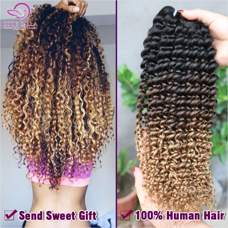 Ombre Kinky Curly Hair Weave 6a Afro Kinky Curly 1b42730 Ombre
