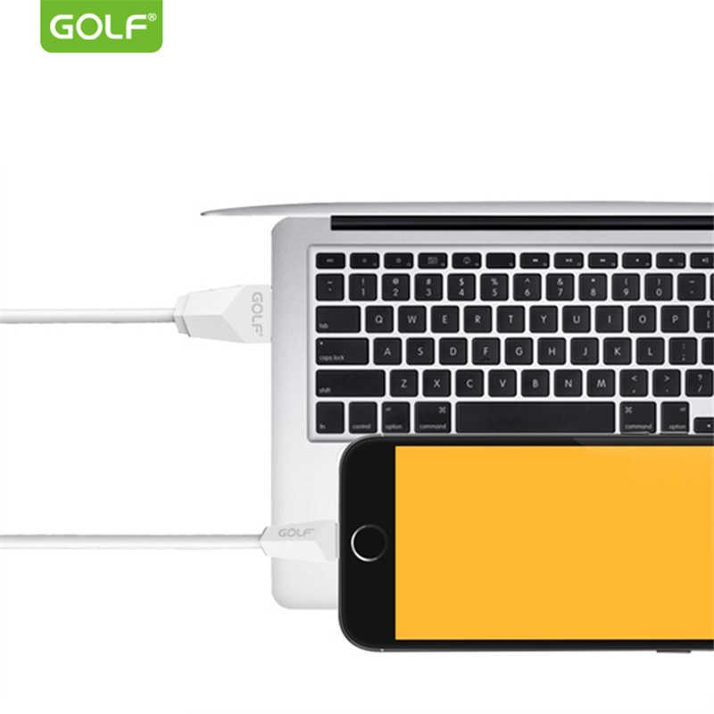 GOLF 1 M 1,5 m 2 m de largo Cable de carga USB para iPhone 5S 6 7 8 Plus rápido USB datos del Cable del cargador para el iPhone 5 SE 6 6 s X iPad 4 mini 2