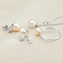 Freshwater pearl jewelry sets 925 sterling silver