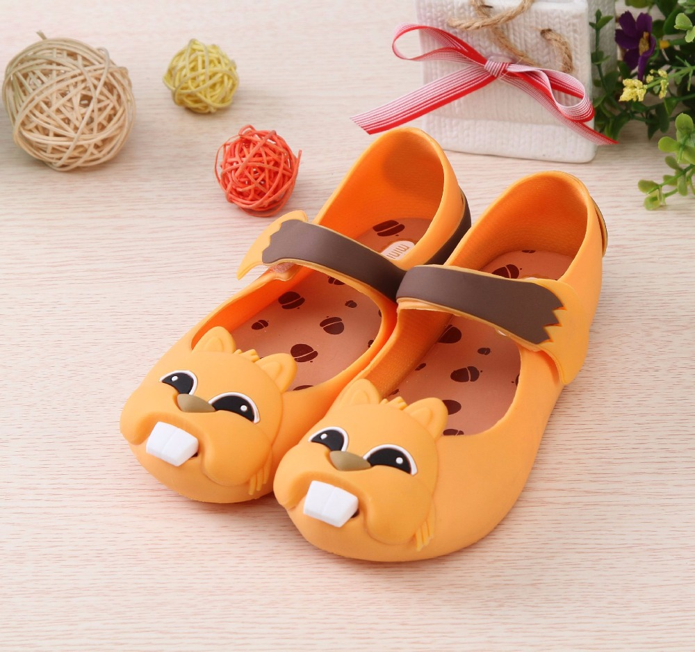 3 Color kids shoes Squirrel Jelly Sandals mini melissa Summer Jelly Shoes Soft Sandals Anti-Skid Waterproof Shoes Sandals