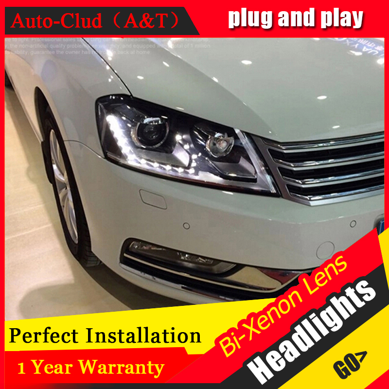 Car Styling Head Lamp for VW Passat B7 led headlights Volks Wagen Passat B7 Headlight LED