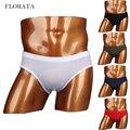 FLORATA Transparent underwear men briefs sexy lingerie sheer mens seamless gay underwear male ice silk panties slip