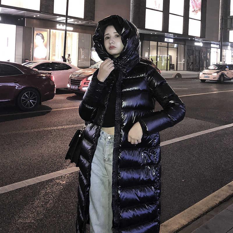 女性ダウンジャケットの冬の少女のダウンコートジャケット熱フード付きダウンコート黒 SML XL XXL