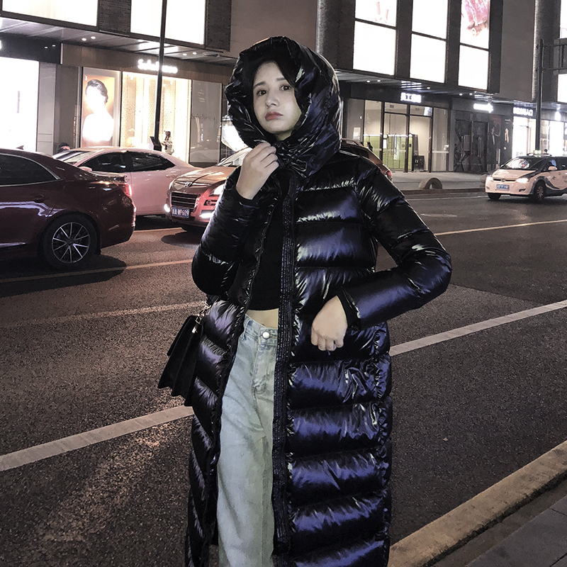 Women   Down   Jacket Winter Girl's   Down     Coat   Jacket Medium Long Thermal Hooded   Down     Coats   BLACK S M L XL XXL