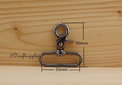 Lobster Clasps Clips Claw purse hooks Swivel snap hook gunmetal 50 mm 6pcs AT79