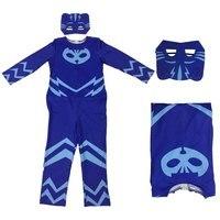 Kids PJ Masks Coplay Jumpsuit NEW Super Hero Baby Masks Hero Connor Greg Amaya Owlette Classic