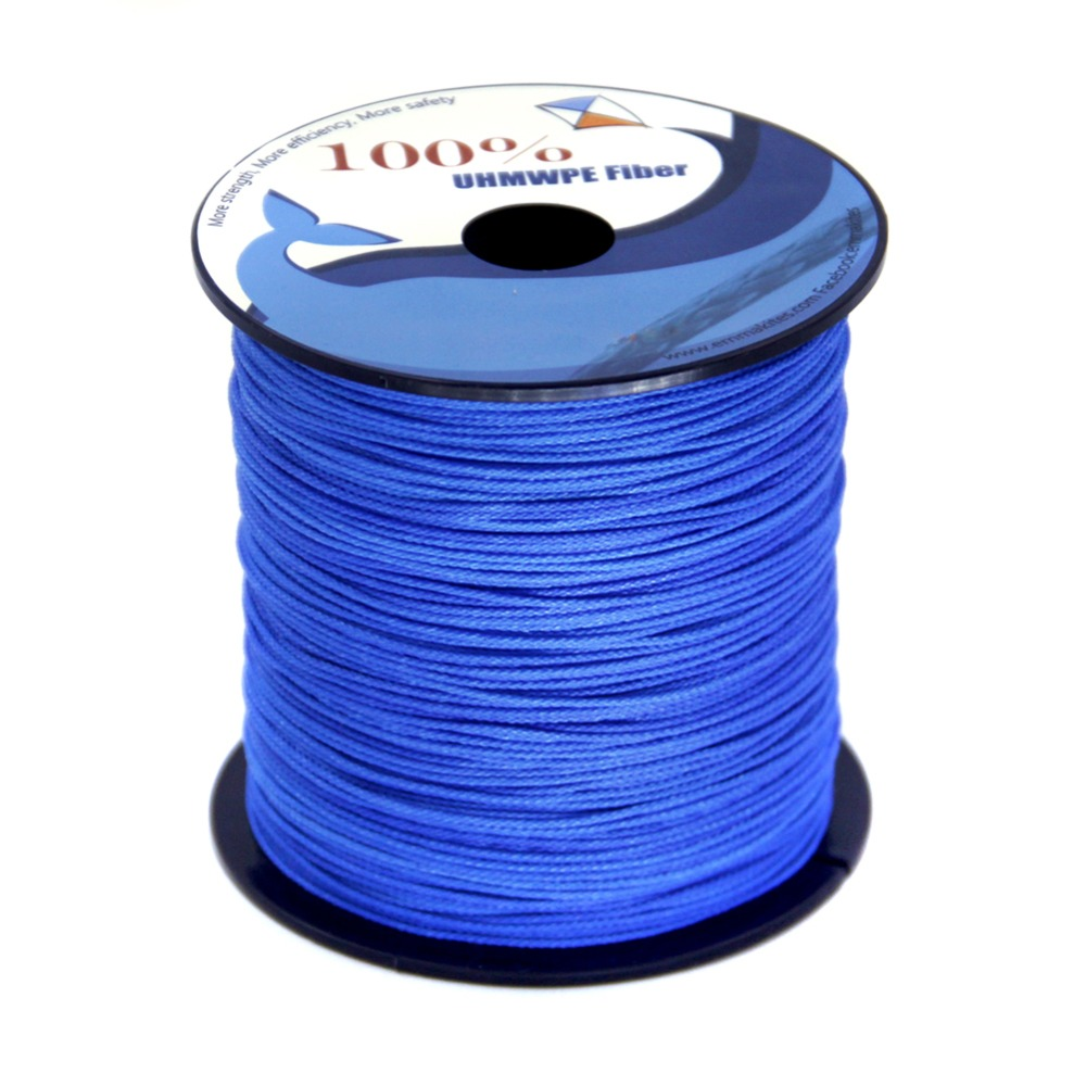 1000ft / 300M 350lb Braided Fishing Line Rope 8 Strands UHMWPE Kite String 1mm Diameter Camping Cord