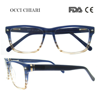 OCCI CHIARI High Quality Glasses Frame Men Acetate Eyewear HandMade Glasses Frame Square Frame Prescription Glasses