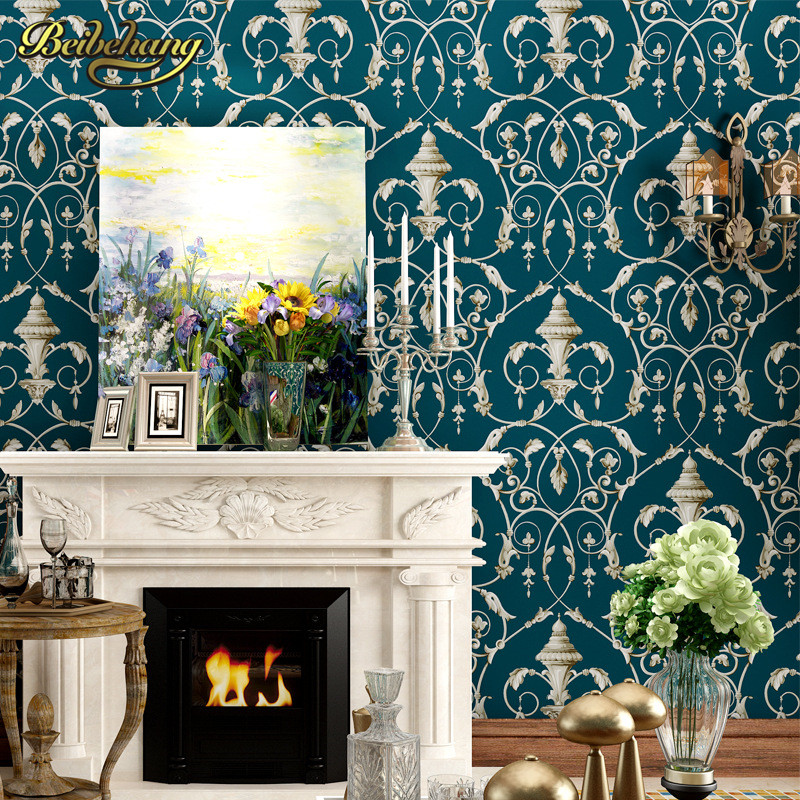 beibehang papel de parede 3d flooring American retro paper Living Room Bedroom Wallpaper For Walls wall paper roll home decor