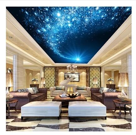 3d Stereoscopique Papier Peint Ktv Plafond Salon Chambre Mur De Fond
