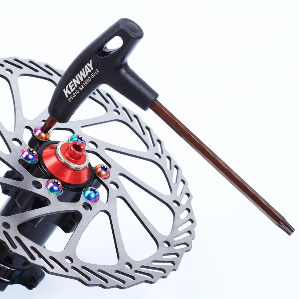 SRWRN Aluminum Bike Repairing Hand Tool Portable Screwdriver T25 Wrench 6 Heads