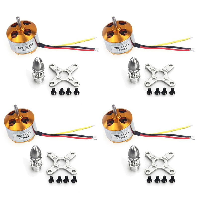 4pcs A2212 1000KV Motors Brushless Outrunner Motor 13T with Mounts for Multicopter DIY Aircraft Multirotor Quadcopter Drone FPV