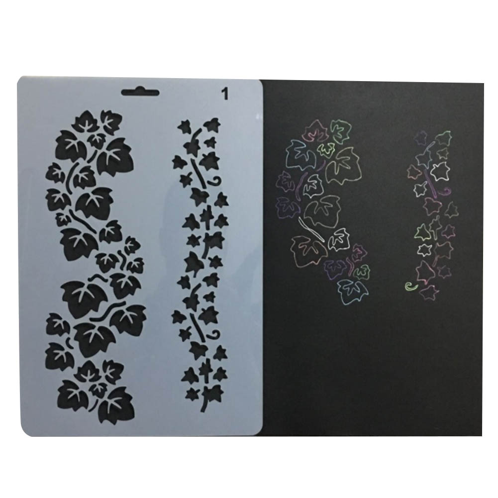 1 Pc High Quality Soft Plastic Reusable Template Stencil Spray Paint Mold Wall Furniture Decor Scrapbooking Album