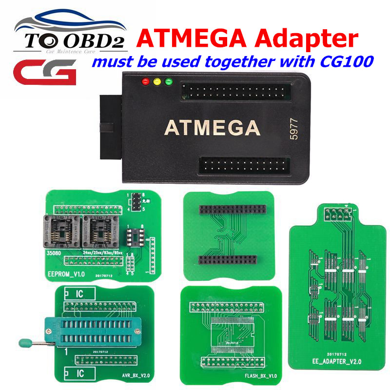 CGDI ATMEGA Adapter For CG100 PROG III Airbag Restore Tool For Eight-Pin Chips Airbag Repairing And Instruments Calibration