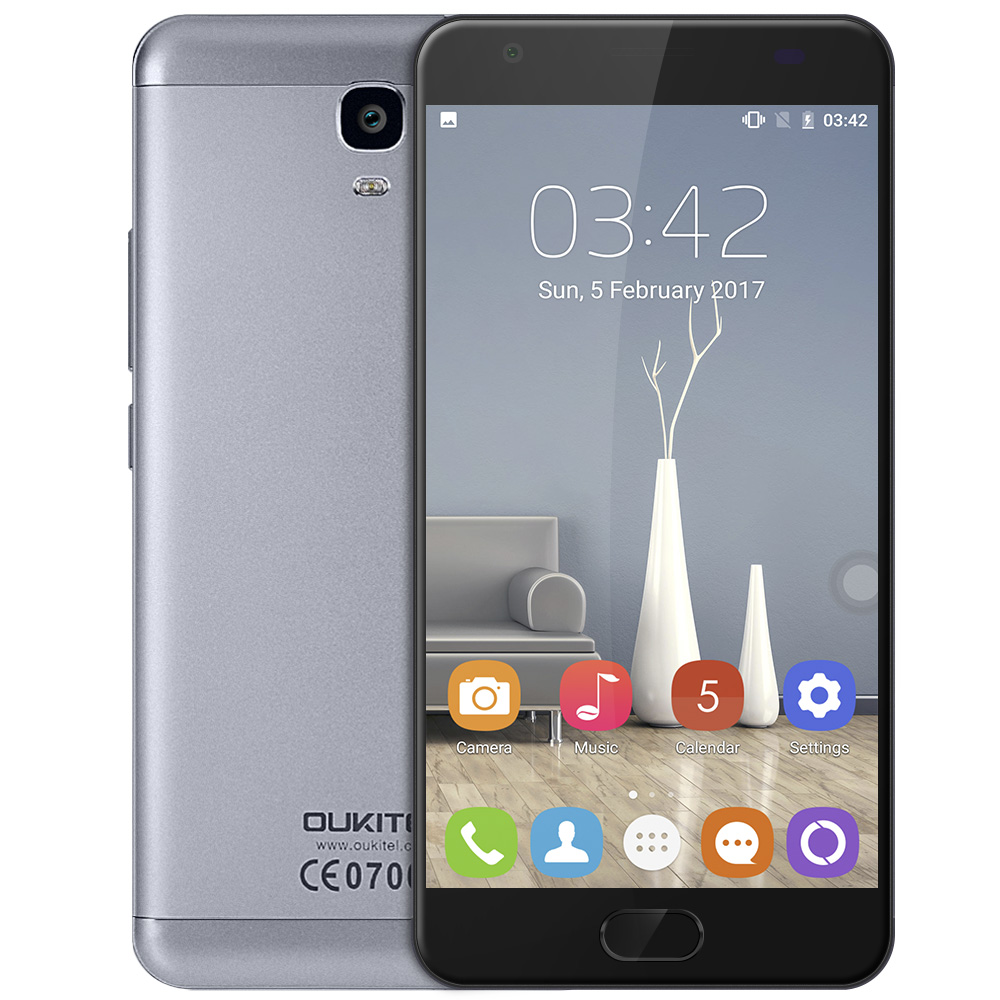 OUKITEL K6000 Plus Android7.0 Mobile Phone 5.5 MTK6750T Octa Core 4GB RAM 64GB ROM 8MP+16MP 6080mAh Finger ID 12V/2A Cellphone