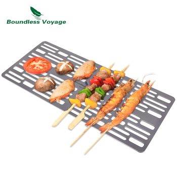 Boundless Voyage Titanium  Charcoal BBQ Grill Net Barbecue  for Family Garden Picnic Outdoor Camping Ultralight Durable 21inch durable barbecue grill for outdoor bbq grill with charcoal bbq smoker charcoal smoked barbecue stove