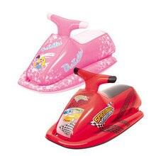 89x46 см детский надувной скутер rider, 3-6 лет надувной скутер rider, бассейн игрушка, водный скутер(красный/розовый
