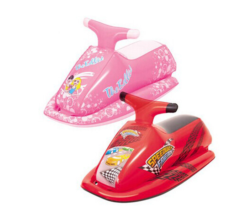 Free shipping! 89x46cm kids inflatable Scooter rider,3-6 years old inflatable scooter rider,pool toy,water scooter (Red/Pink)