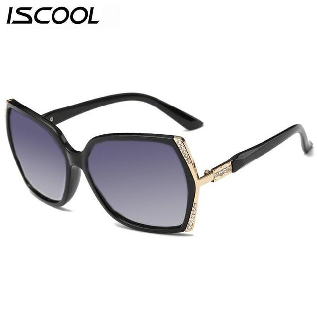 04f664cc8b 2016 New Luxury Polarized Sunglasses Crystal Women Sun Glasses Original  Brand Designer Top Quality Big Frame Women Sunglasses